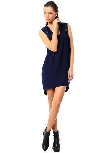 YAS Önü Kısa Arkası Uzun Elbise Mavi